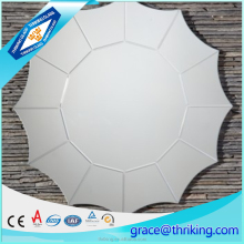 New design 5mm frameless decorative sun shaped wall mirror