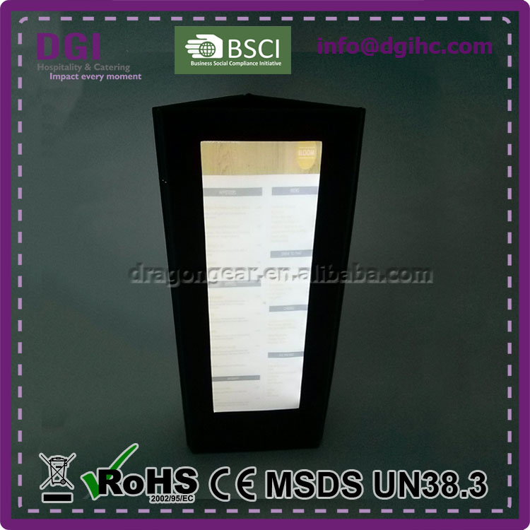 Modern economical panel cheap hardcover menu CE ROHS FCC VO ERP approved