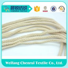 natural color cotton rope 6 mm for crochet