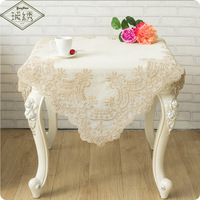 Wholesale Luxury Slubbed Fabric Embroidery Place mat Tablecloth
