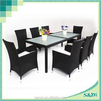 S.D 2015 New Design Poly Material Stainless Steel Frame Catering Tables and Chairs