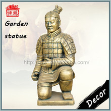 Hot!!! Hand-made Imitation Brass Color Kneeling Archer Terracotta Warriors Replica Souvenir YFT87-4