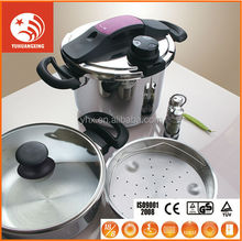 7L German style SUS304 stainless steel pressure cooker cookware set with Pot