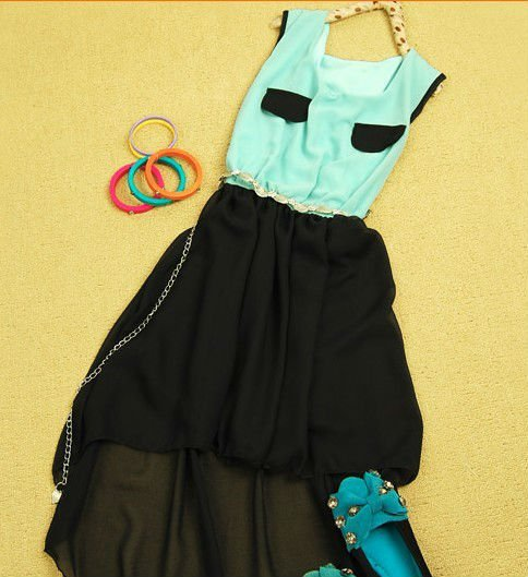 Newest fashion summer color ress