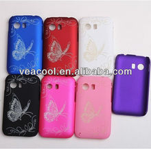 Butterfly Rubber Hard Case For Samsung Galaxy Y S5360