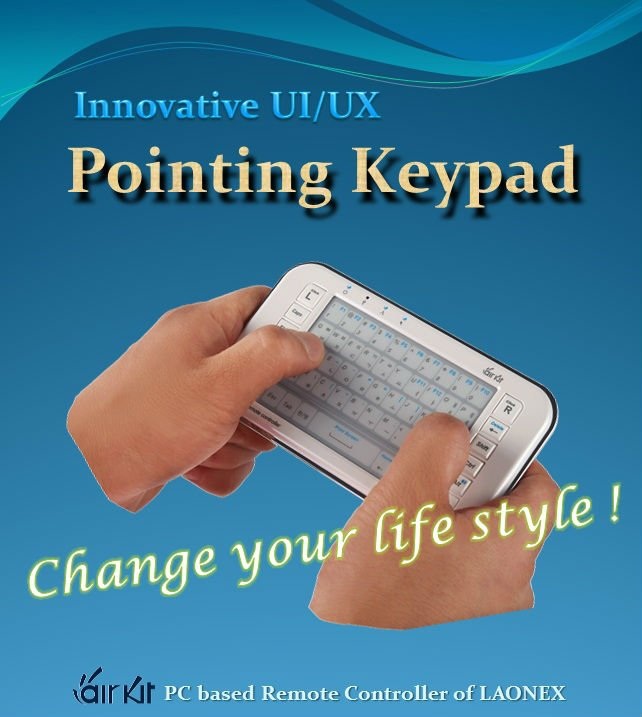 Wireless mouse keyboard for IPTV, Tablet PC and Presentaton