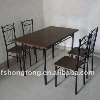 Mainstays 5 Piece Wood And Metal Dining Set Wholesale