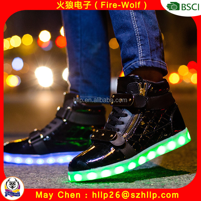 Fashion leisure men and women shoes light up adult shoes have in stock