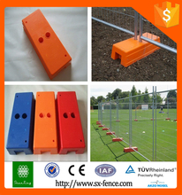 PVC Coated Temporary Fence Stands Concrete
