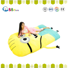 Cute Minion Sleeping Bed Big Stuffed Animals Thicken Double Bed