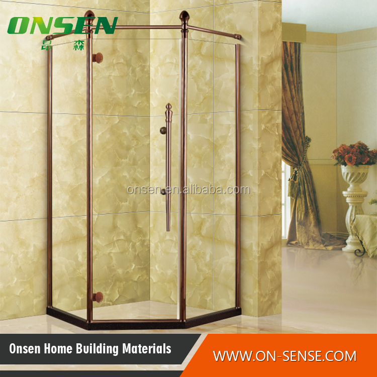 prefabricated shower enclosure classic style stainless steel shower enclosure for hotel bathroom