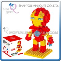 Mini Qute 3d Marvel Avenger Super hero diamond plastic building block cartoon movie model kids boy educational toy NO.BY 8143A