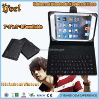 Universal Bluetooth 3.0 8 inch Keyboard Case for Android & for windows Tablet,Keyboard with leather case for ipad mini
