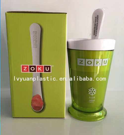 wholesale ECO-friendly plastic ice cream cup drinking cup chilled water cup with color box