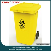 Professional made wholesale price medical waste bin with 2 wheels