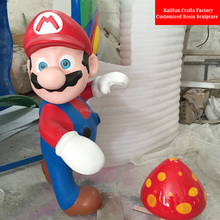 guangzhou supplier life-size resin super mario statue