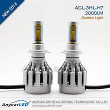 Anycar 3HL All in one golden H7 LED headlight kit
