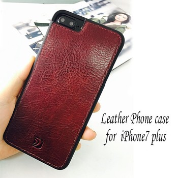 Wholesale leather wallet design cell phone case for iphone 7 plus with card slot