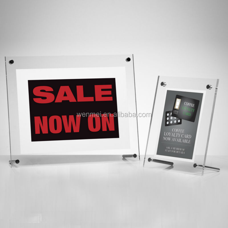 NEW Style & Hot sale Creative custom clear multi magnetic acrylic photo frames, picture frames 6 x 8