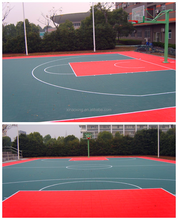 SUGE Suspended Interlocking Sports Flooring For Outdoor Basketball Court