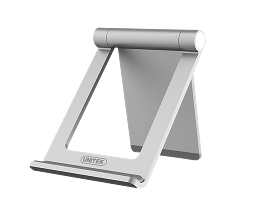 UNITEK Aluminium Stand for smartphone/mobile/cellphone, holder, with anti-slip pad, adjustable and rotatable