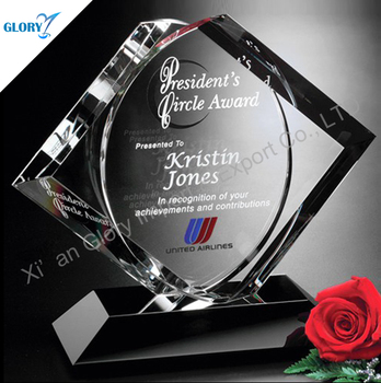 New Customized Memorial Crystal Awards Plaques