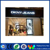 Famous brand advertising signs led sign boards for shops