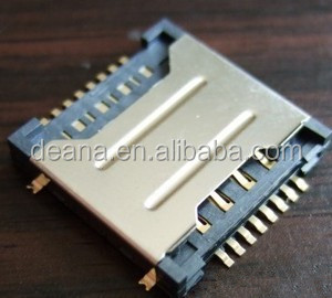 TF and SIM Dual Card Socket for Mobile Phone