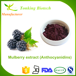 Mulberry factory price provide Mulberry Extract Anthocyanin 25%