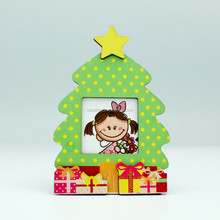 Wooden Photo Frame Christmas Tree DIY Funny Handmade Gifts For Kids