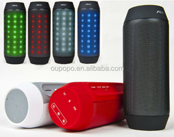Factory Hot Selling Wireless Portable Colour Bicycle Bluetooth Speaker Pulse LED Hole OP-048 for Biking