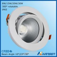 2015 new IP65 high light efficiency downlight led fixtures CRI>80 90 15w down lighting