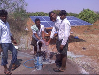 Solar water pumping system is a popular Application for Irrigation, Drinking water supply at remote and rural areas
