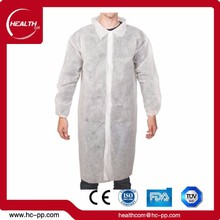 high standard disposables chemical cheap white acid resistant lab coat
