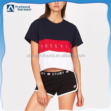 wholesale short sleeves assorted colors customizable basic tight fit t-shirt for women
