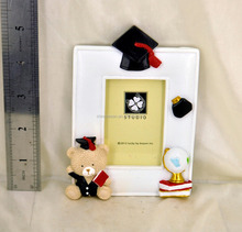 three color cute bear polyresin engraved photo ornaments frame