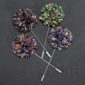 Whosale Bulk Flower Lapel Pins Brooches Men Wedding Handmade Brooch Suits Shirt