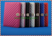 Luxury Design Diamond Pattern Lambskin Leather Case For iPad air/ipad 5