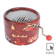 18 note music box hand crank with plastic red ball handle
