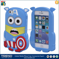 various 3d cute cartoon silicon case for iphone 5