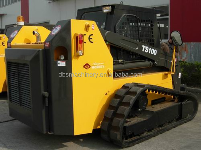 High Quality 4.28 Ton Luyue TS100 Skid Steer Loader With 0.6-0.7m3 Bucket For Sale