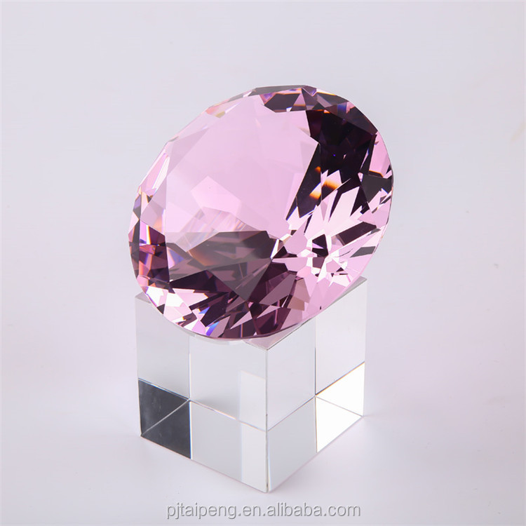 Wholesale customized weddings decoration pink diamond crystal