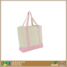 Heavy Duty Cotton Canvas Tote Bag with zipper closure