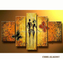Hot sale Abstract African family oil painting