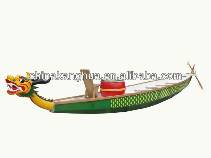 high qulity racing fiberglass used Dragon boat for 12 person