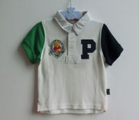Baby clothes high quality 100% cotton baby boys polo t-shirt