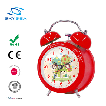 3 inch logo imprint customized car design cheap ABS alarm clock