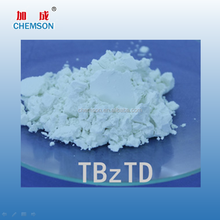 Enviroment friendly NR SBR NBR rubber fast primary secondary accelerator TBzTD chemical additive
