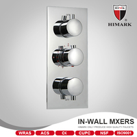 Contemporary style shower valve control thermostatic valve trim