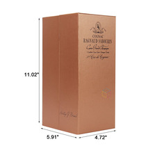 custom lidded cardboard gift paper boxes wine packaging